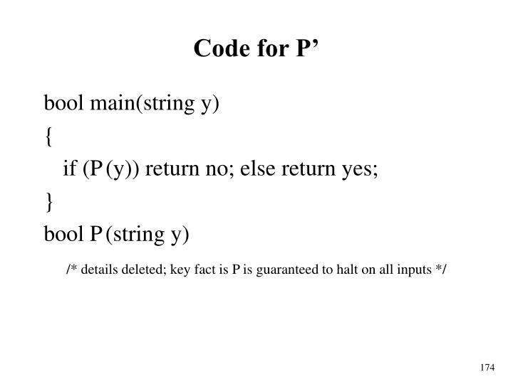 Code for P'