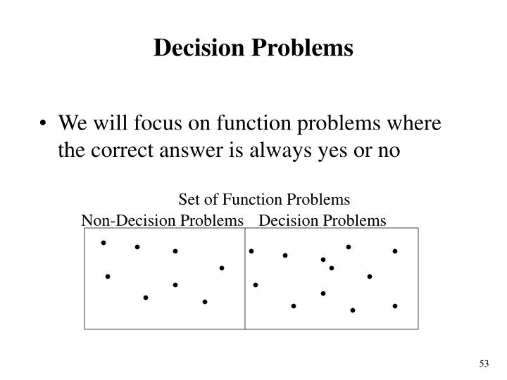 Set of Function Problems