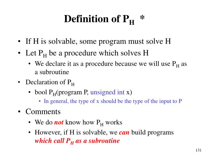 Definition of P