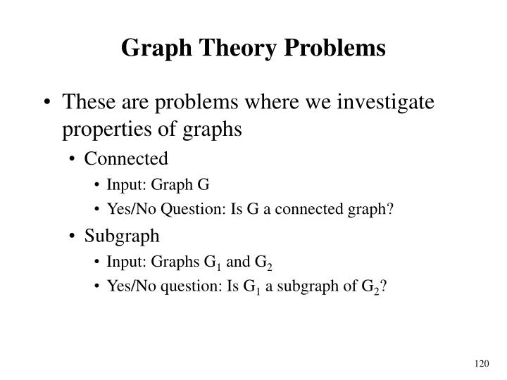 Graph Theory Problems