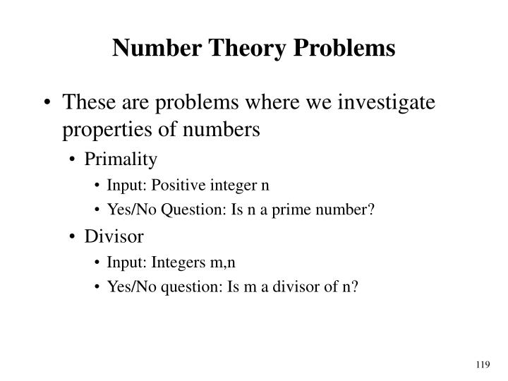 Number Theory Problems