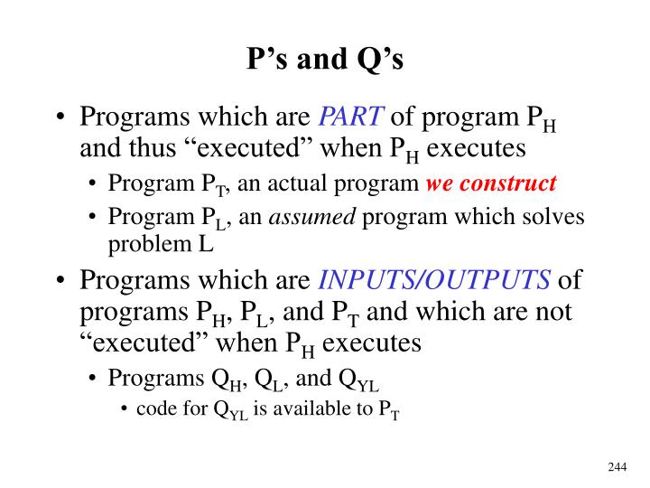 P's and Q's