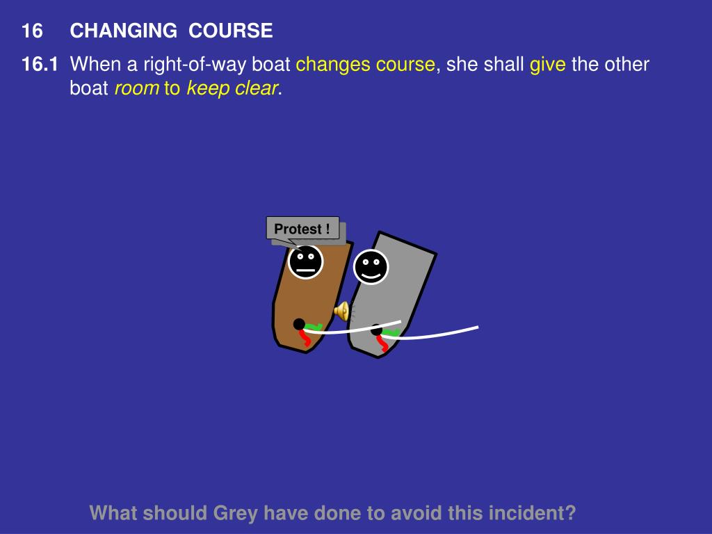 16CHANGING  COURSE