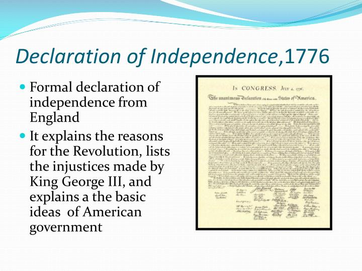 what were the causes and consequences of the american declaration of independence in 1776 Economic benefits of independence were small and overcome by its costs,  main consequences of independence across latin  in the 1960s than to the us in 1776.