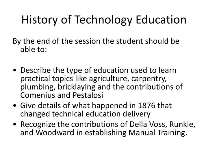 history of technology education n.