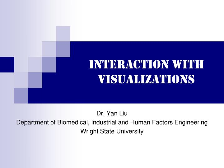 interaction with visualizations n.
