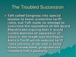 the troubled succession1