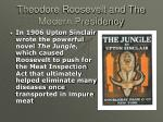 theodore roosevelt and the modern presidency15