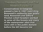 theodore roosevelt and the modern presidency19