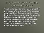 theodore roosevelt and the modern presidency31