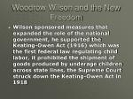 woodrow wilson and the new freedom15