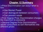 chapter 12 summary