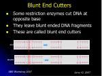 blunt end cutters