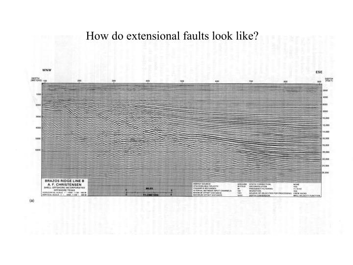 How do extensional faults look like?