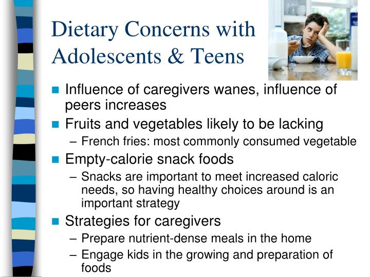 Dietary Concerns with Adolescents & Teens