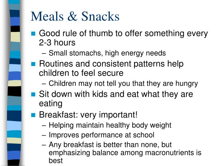 Meals & Snacks