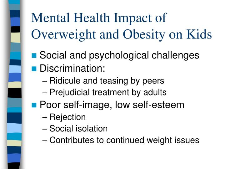 Mental Health Impact of Overweight and Obesity on Kids