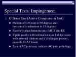 special tests impingement