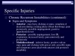 specific injuries57