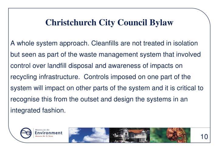 Christchurch City Council Bylaw