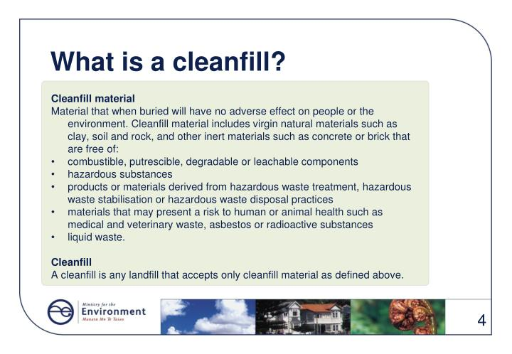 What is a cleanfill?