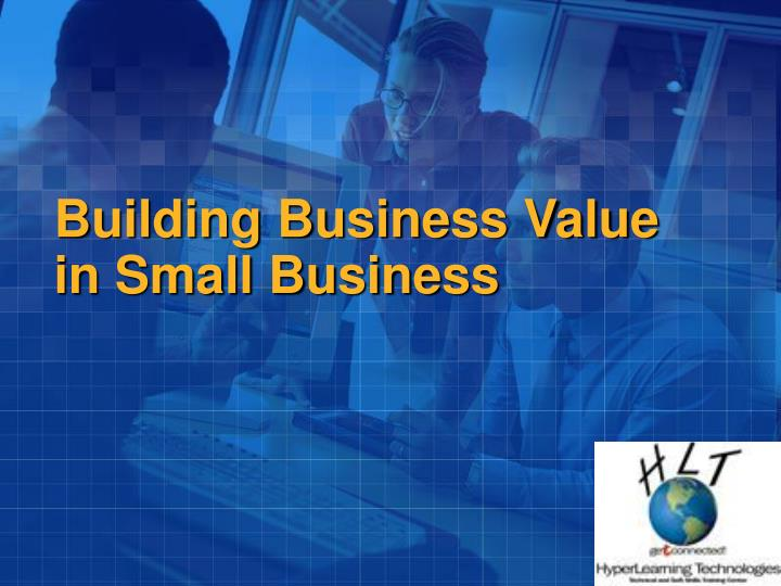 building business value in small business n.