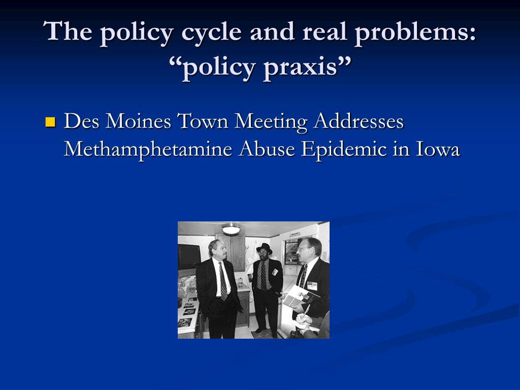 The policy cycle and real problems: