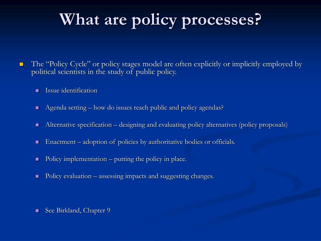 What are policy processes?