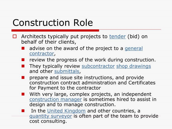 Construction Role