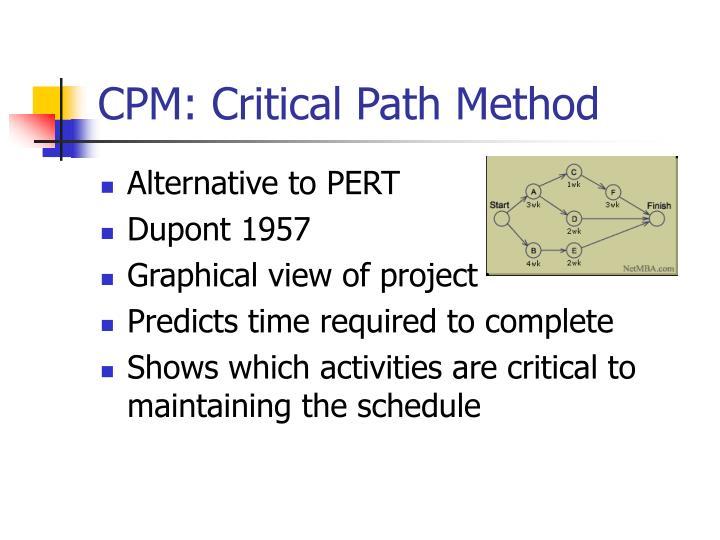 CPM: Critical Path Method