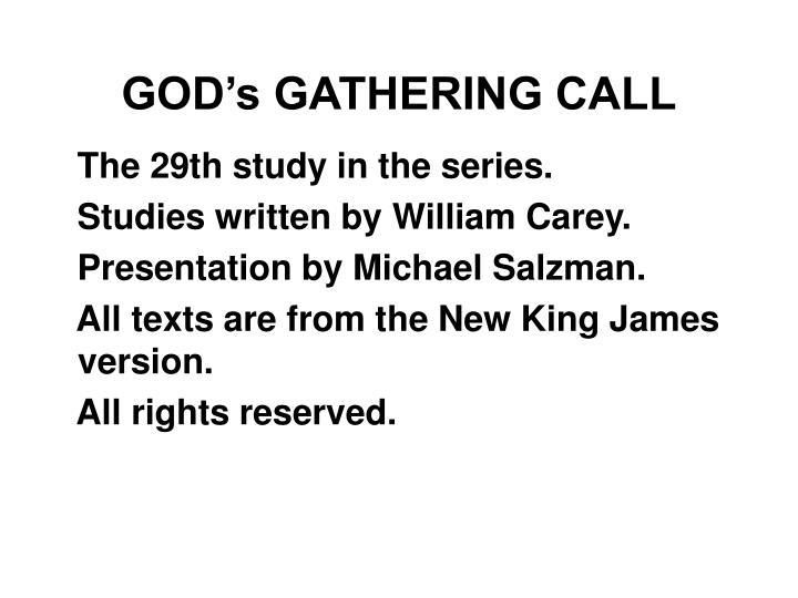 God s gathering call1