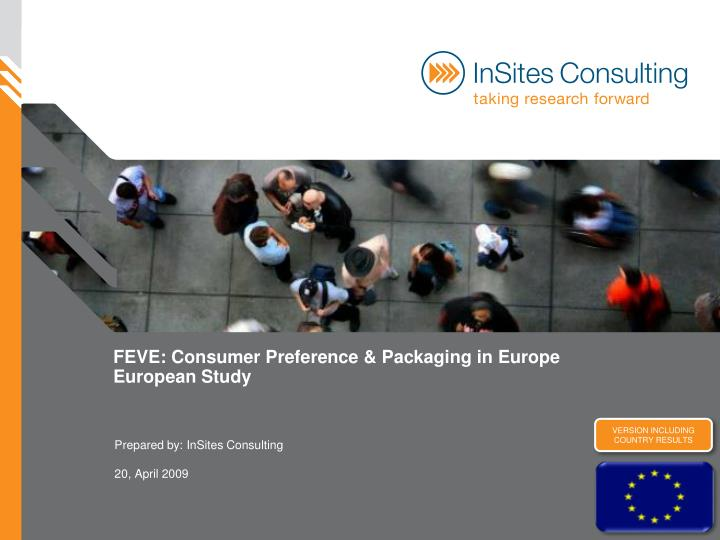 feve consumer preference packaging in europe european study n.