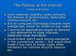 the politics of the internet codes and states