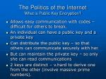 the politics of the internet what is public key encryption