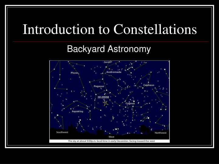 introduction to constellations n.