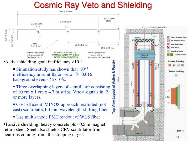 Cosmic Ray Veto and Shielding