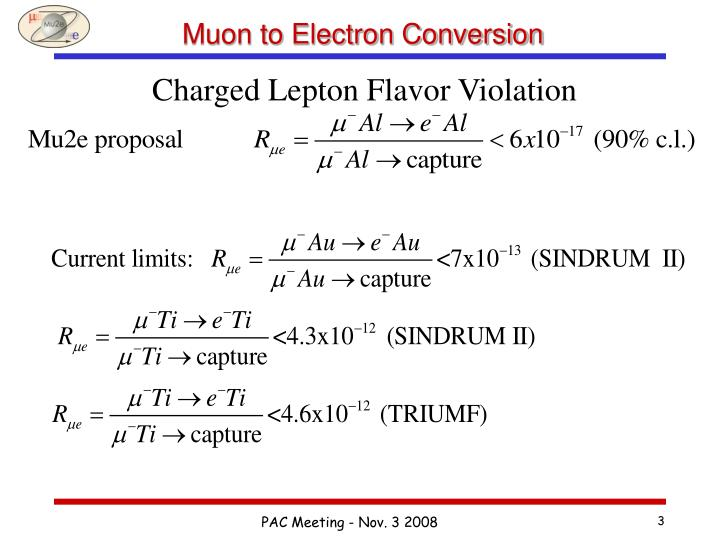 Muon to electron conversion