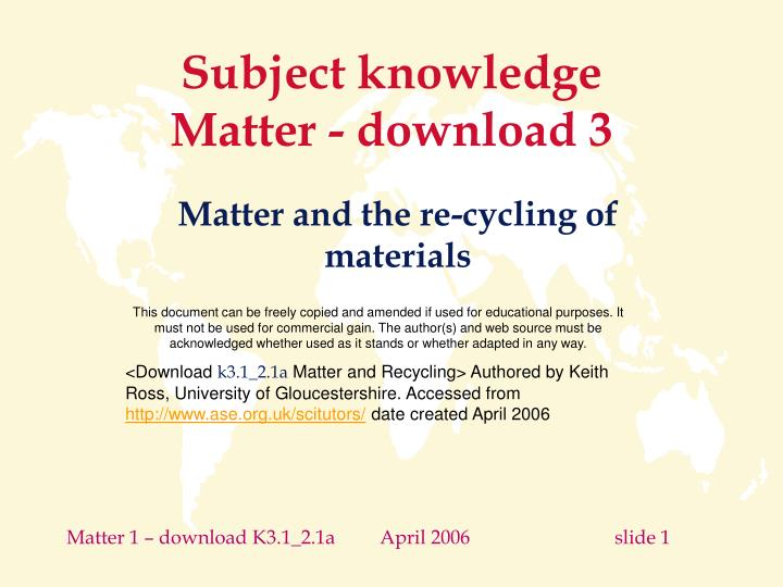 subject knowledge matter download 3 n.