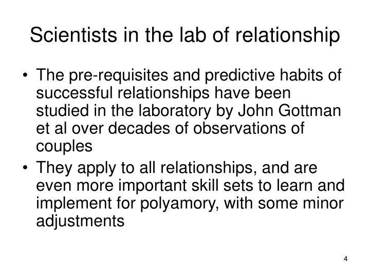 Scientists in the lab of relationship