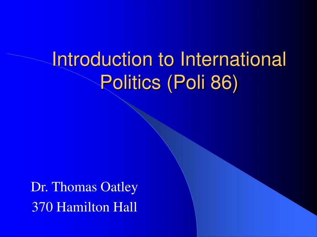 introduction to international politics poli 86 l.