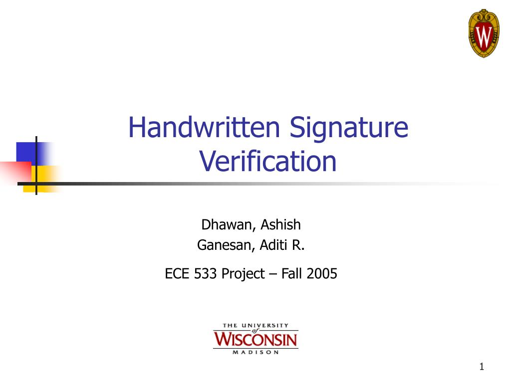 handwritten signature verification l.