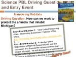 science pbl driving question and entry event1