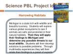 science pbl project idea1