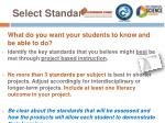 select standards