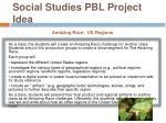 social studies pbl project idea