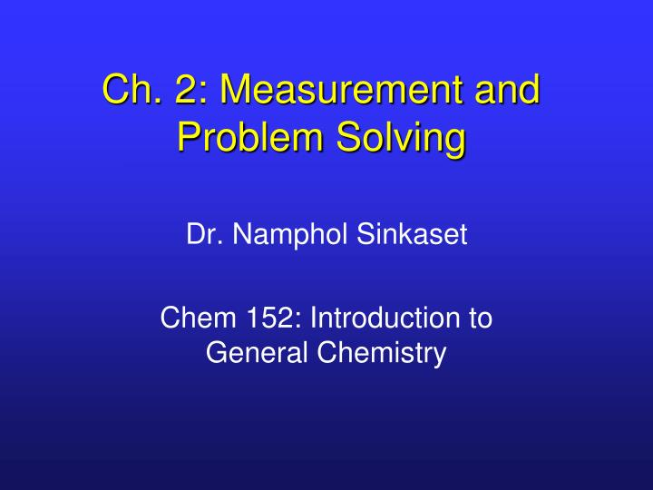 ch 2 measurement and problem solving n.