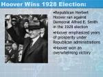 hoover wins 1928 election