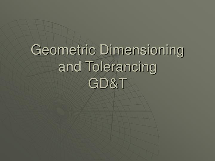 geometric dimensioning and tolerancing gd t n.