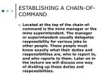 establishing a chain of command1