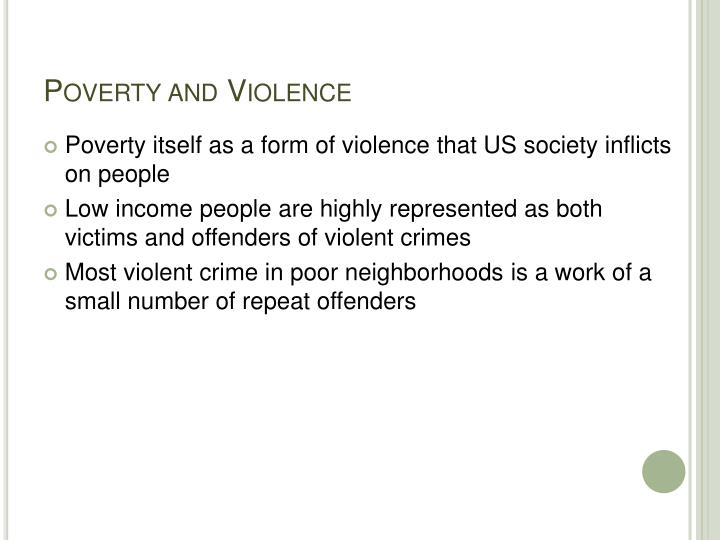 Poverty and Violence